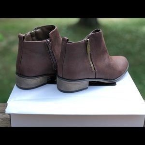 Women's Brown Suede Ankle Boots